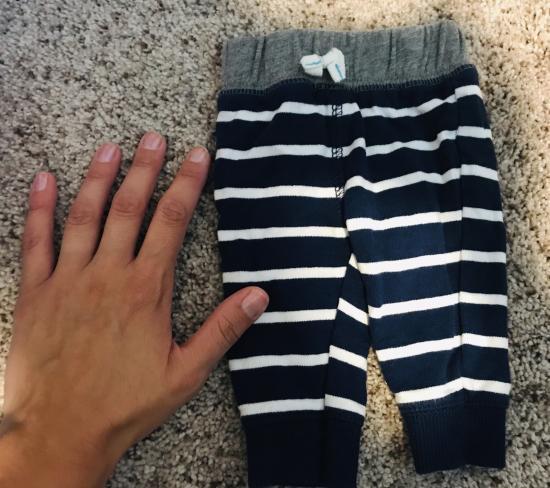 Going through little mans clothes..
