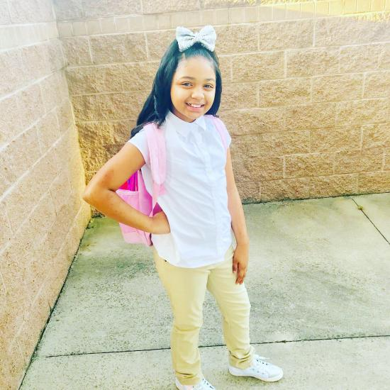 My baby Aniyah first day of 4th