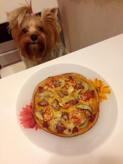 Сделала я пиццу 🍕 в мультиварке☺️☺️☺️очень