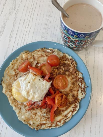 Я впервые сделала себе на завтрак