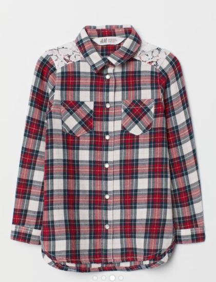 Рубашка H& m 5-6 лет 116 см.