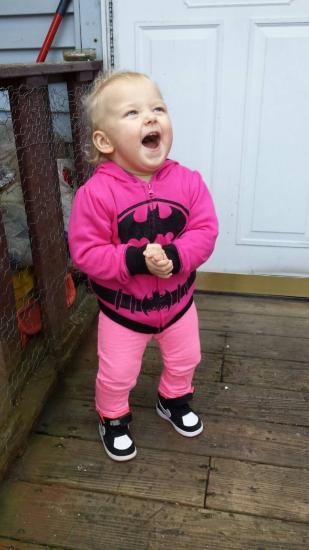 My Beautiful Babygirl! The morning