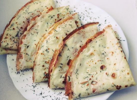 Сырные блинчики с зеленью 🤤Если