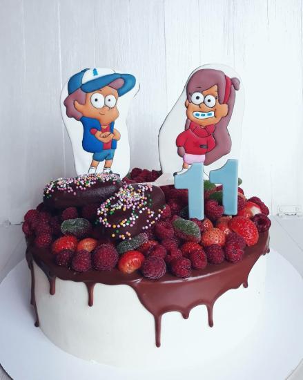 Торт для поклонника Гравити Фолз👫 Шокобисквиты,