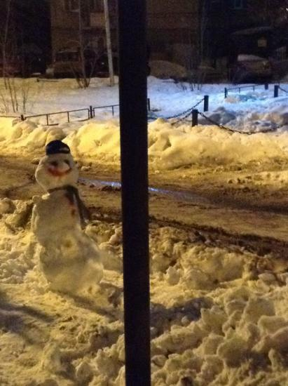 А я вчера снеговика слепила😂😂😂💪🏼сегодня