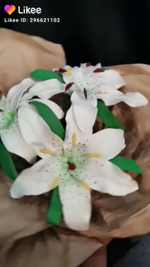 Цветы из фоамирана 🙌 Это пока черновик,