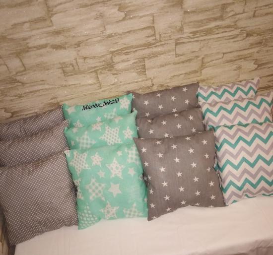🤩12 борт-подушек 35×35 см, в кроватку