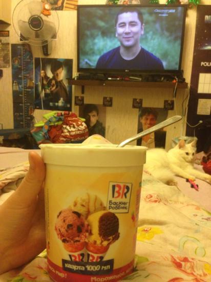 Любимая мороженка и Дискавери :)