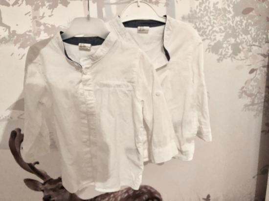 Рубашки H&M, 74 см Одеты один раз