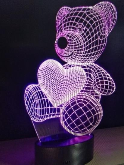 3D светильник (ночник с 3d-эффектом)