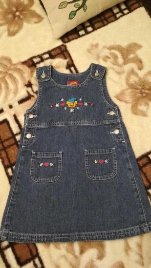 Сарафан джинсовый, 104 размер,
