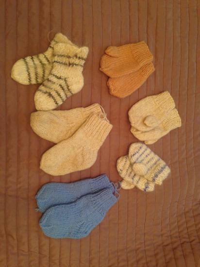 Варежки носочки Новые Ручная вязка Шерсть Белые