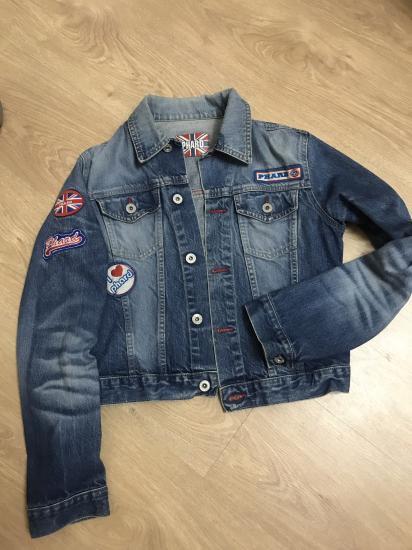 Джинсовый пиджак ) одет три раза