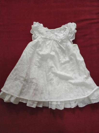 Платье белое 0-3 месяца. 100 р Песочник