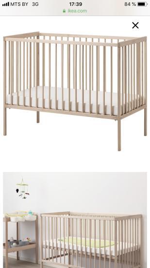Продам кроватку СНИГЛАР бук, 60x120