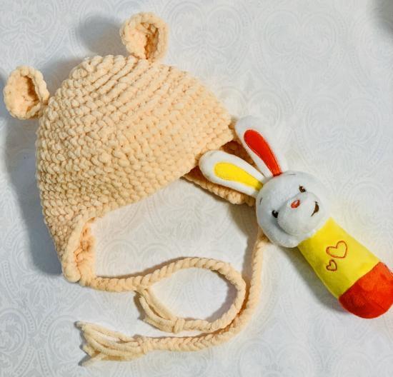 Перша шапочка для доні своїми руками😊 P.s.