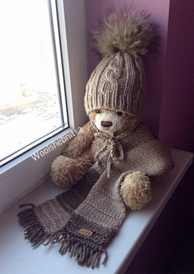 Зимняя шапка для мальчика и шарф,