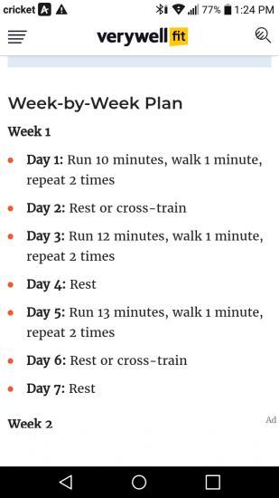 My training plan this week. Cross