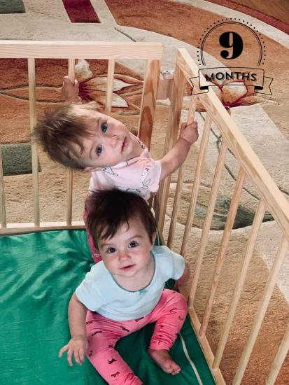9 месяцев#двойняшки