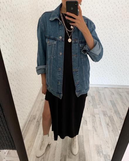 Платье макси с высокими вырезами