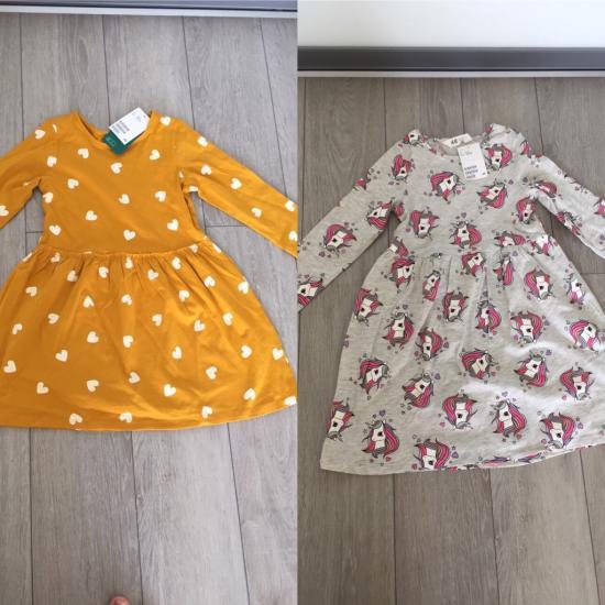 Платья H&M Желтое 4-6лет Серое