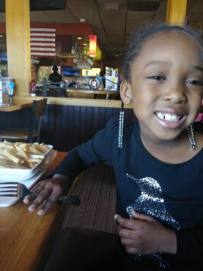 At Applebee's with my Girls. Excuse