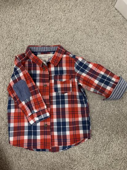 Рубашка H&M. 74 размер. По факту