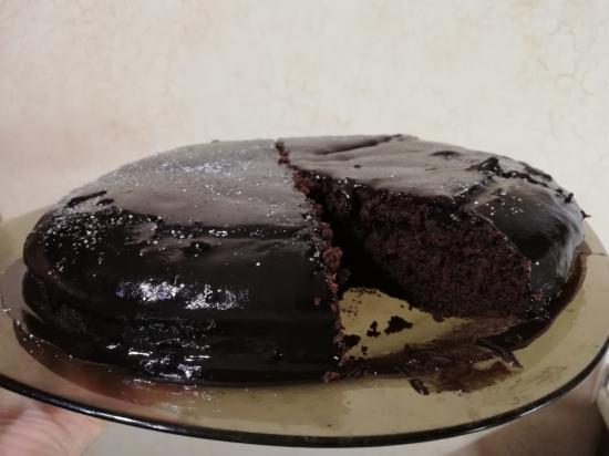 А у меня сегодня шоколадный торт