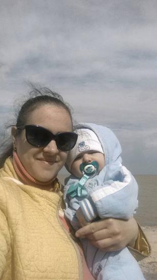 первый раз с ребёнком на море.