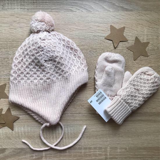 Новый набор НМ шапка + варежки